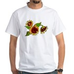 Sunflower Garden White T-Shirt