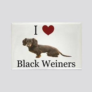 I love Black Weiners Dachshund Rectangle Magnet
