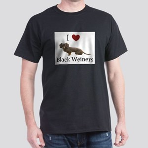 I love Black Weiners Dachshund Dark T-Shirt