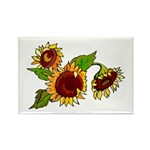 Sunflower Garden Rectangle Magnet (10 pack)