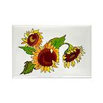 Sunflower Garden Rectangle Magnet (100 pack)