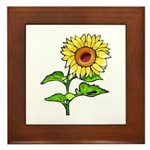 Sunflowers Framed Tile