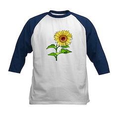 Sunflowers Kids Baseball Jersey
