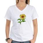 Sunflowers Women's V-Neck T-Shirt