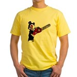 Teddy Bear with chainsaw Yellow T-Shirt