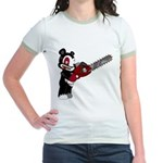 Teddy Bear with chainsaw Jr. Ringer T-Shirt