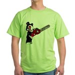 Teddy Bear with chainsaw Green T-Shirt