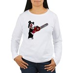 Teddy Bear with chainsaw Women's Long Sleeve T-Shi