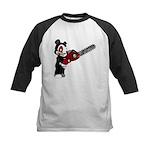 Teddy Bear with chainsaw Kids Baseball Jersey
