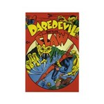 Classic Dare Devil vs. Claw Rectangle Magnet