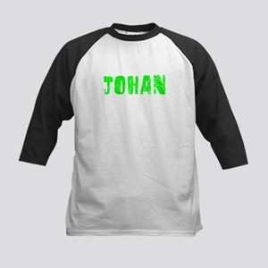 Johan Faded (Green) Kids Baseball Jersey