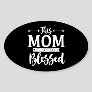 Blessed Mom Sticker (Oval)