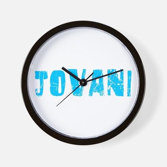 Jovani Faded (Blue) Wall Clock