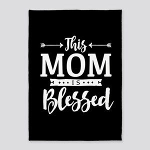 Blessed Mom 5'x7'Area Rug