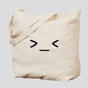 >_< Tote Bag