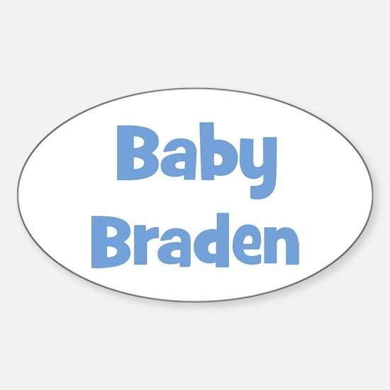 Baby Braden (blue) Oval Decal