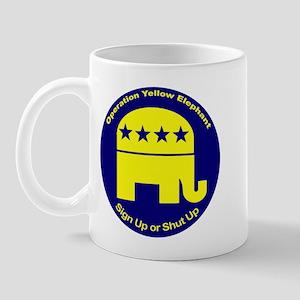 OYE - Sign Up or Shut Up Mug