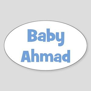 Baby Ahmad (blue) Oval Sticker