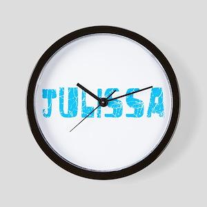 Julissa Faded (Blue) Wall Clock