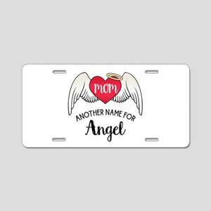 Mom Angel Aluminum License Plate