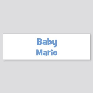 Baby Mario (blue) Bumper Sticker