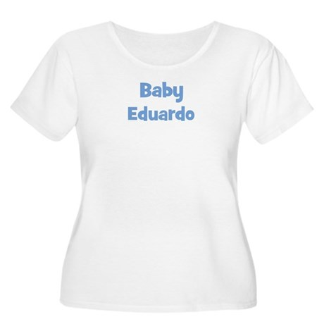 Baby Eduardo (blue) Women's Plus Size Scoop Neck T