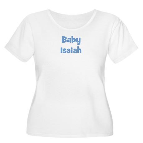 Baby Isaiah (blue) Women's Plus Size Scoop Neck T-