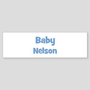 Baby Nelson (blue) Bumper Sticker