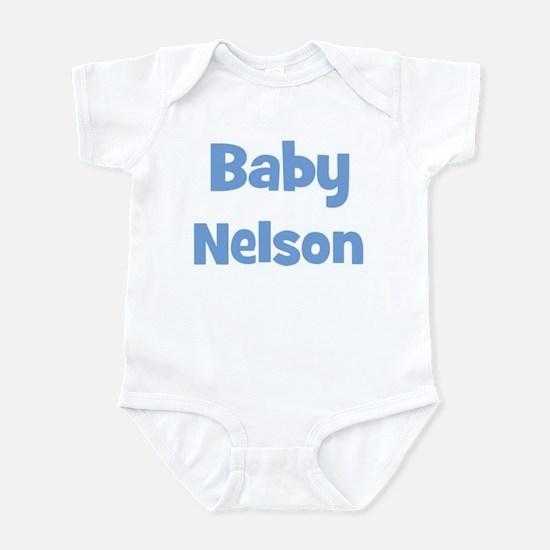 Baby Nelson (blue) Infant Bodysuit
