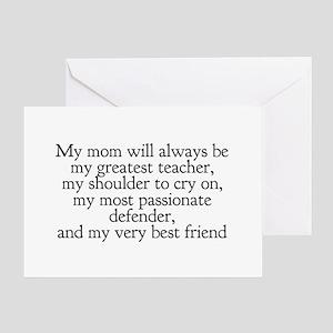 My Mom My Friend Greeting Card