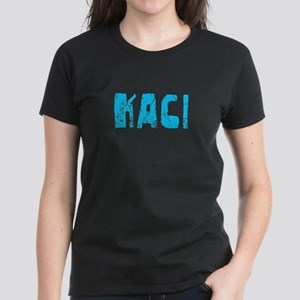 Kaci Faded (Blue) Women's Dark T-Shirt