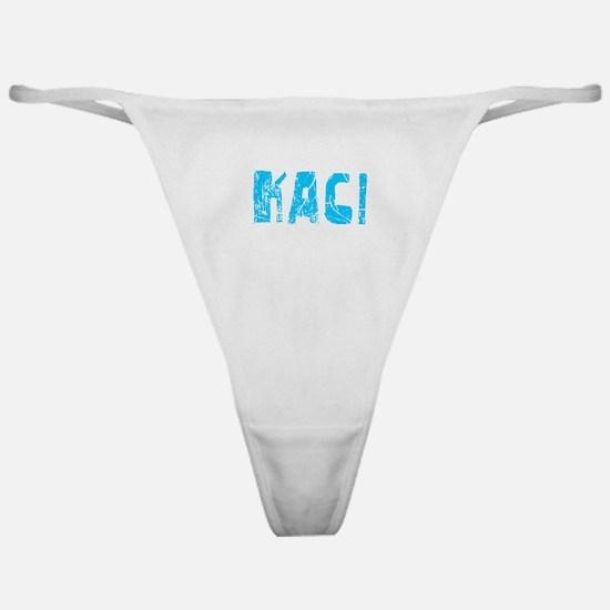 Kaci Faded (Blue) Classic Thong