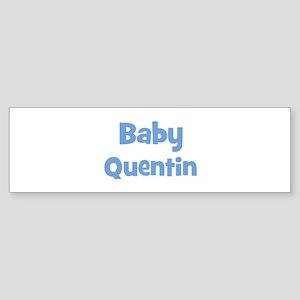 Baby Quentin (blue) Bumper Sticker