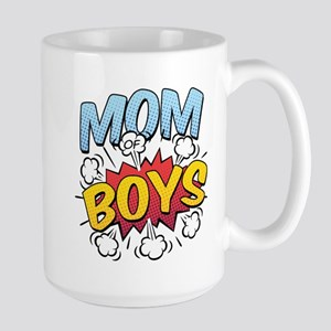 Mom of Boys Large Mug