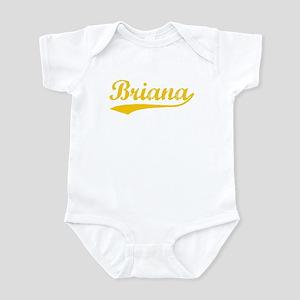 Vintage Briana (Orange) Infant Bodysuit