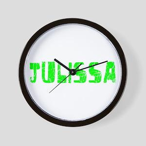 Julissa Faded (Green) Wall Clock