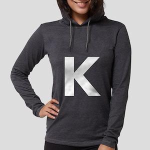 Letter K White Long Sleeve T-Shirt