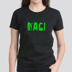 Kaci Faded (Green) Women's Dark T-Shirt