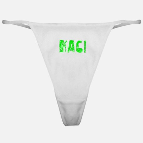 Kaci Faded (Green) Classic Thong