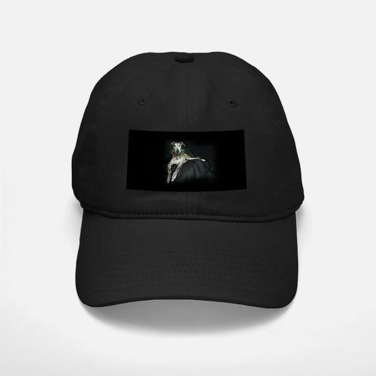 Brindle Christmas Jester Grey Baseball Hat