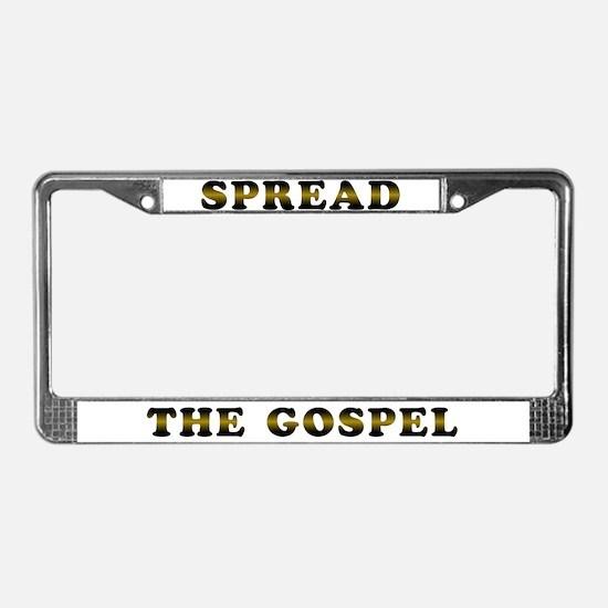Spread the Gospel License Plate Frame