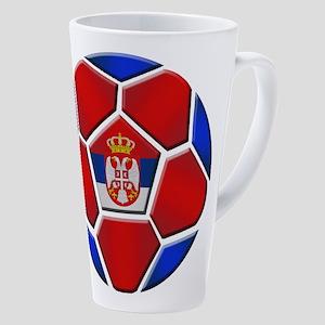 Serbia Soccer Football 17 Oz Latte Mug