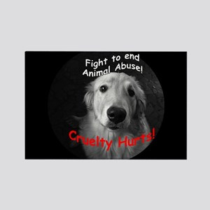 Cruelty Hurts! Rectangle Magnet