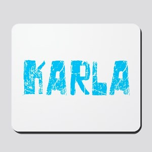 Karla Faded (Blue) Mousepad