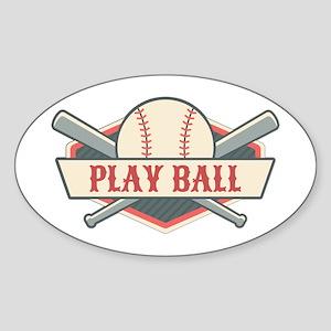 Play Ball Baseball Sticker