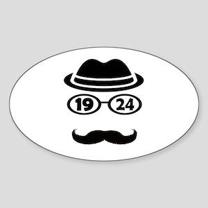 Born In 1924 Sticker (Oval)
