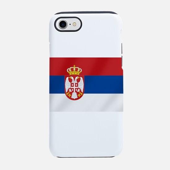 Flag of Serbia iPhone 8/7 Tough Case