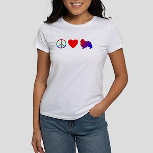 Peace Love Sheltie Women's T-Shirt