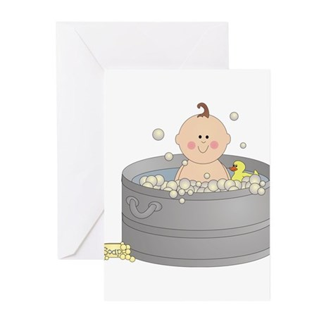 Bathtime Baby Greeting Cards (Pk of 10)