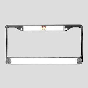 Fencing Logo (Red & Gold) License Plate Frame